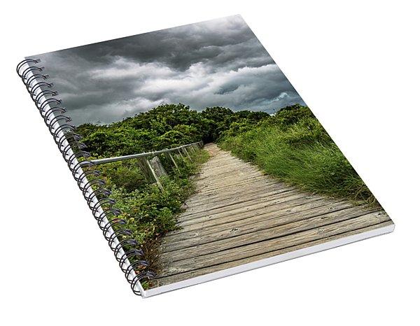 Sullivan's Island Summer Storm Clouds Spiral Notebook