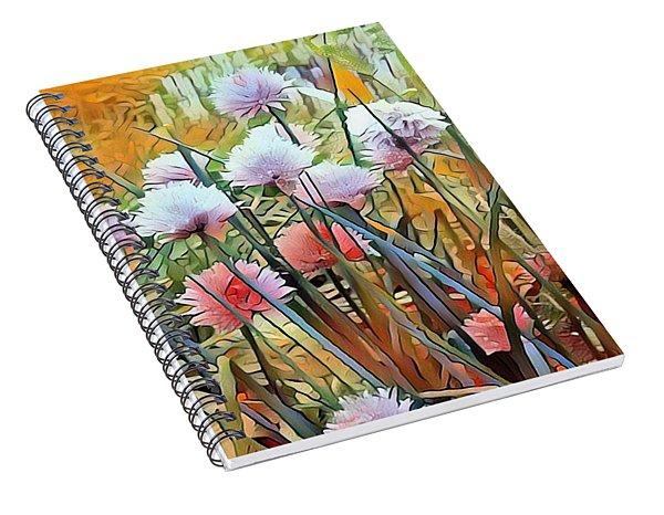 Summer Day Flowers Spiral Notebook