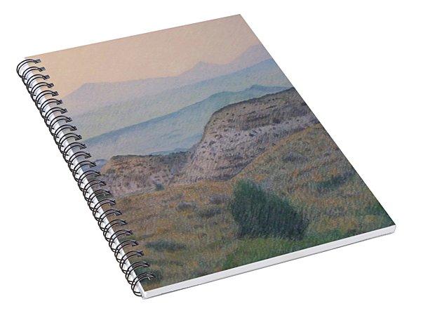 Summer In The Badlands Spiral Notebook
