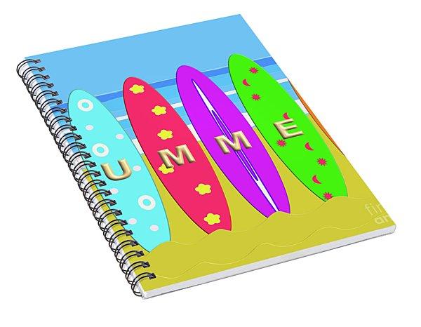 Summer Surf Spiral Notebook