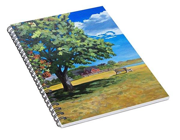 Summer's End In Biddeford At Biddeford  Pool Spiral Notebook