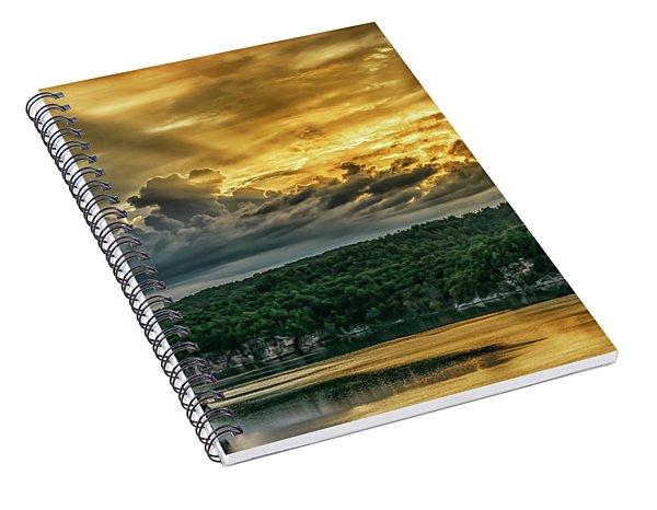 Summersville Lake Sunrise Spiral Notebook
