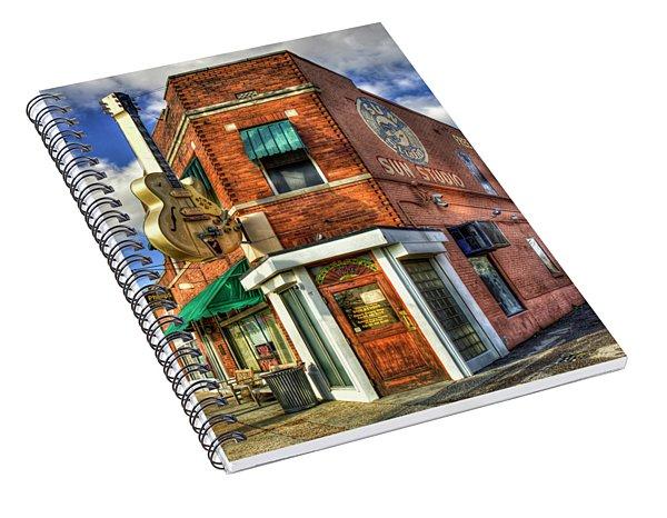 Sun Studio Rock N Roll Birthing Place Memphis Tennessee Art Spiral Notebook