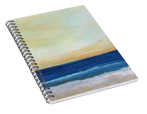 Sun Swept Coast- Abstract Seascape Spiral Notebook