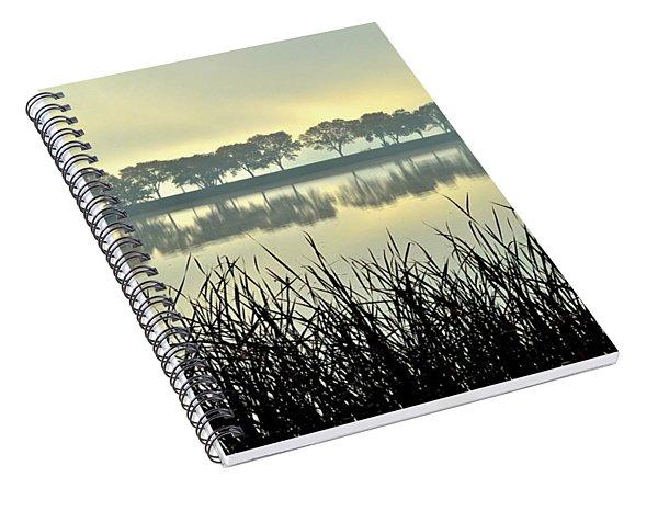 Fog At Sunrise Spiral Notebook