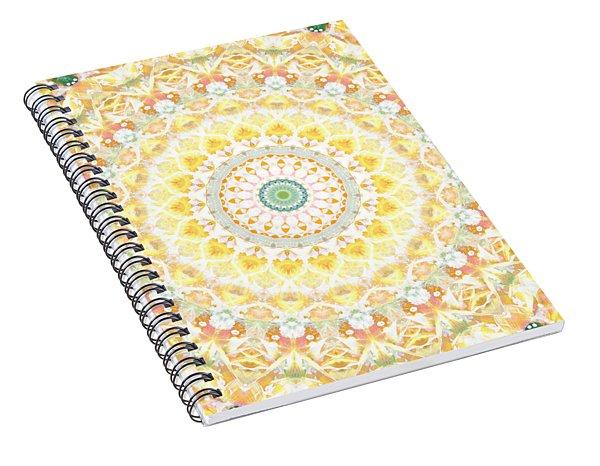 Sunflower Mandala- Abstract Art By Linda Woods Spiral Notebook