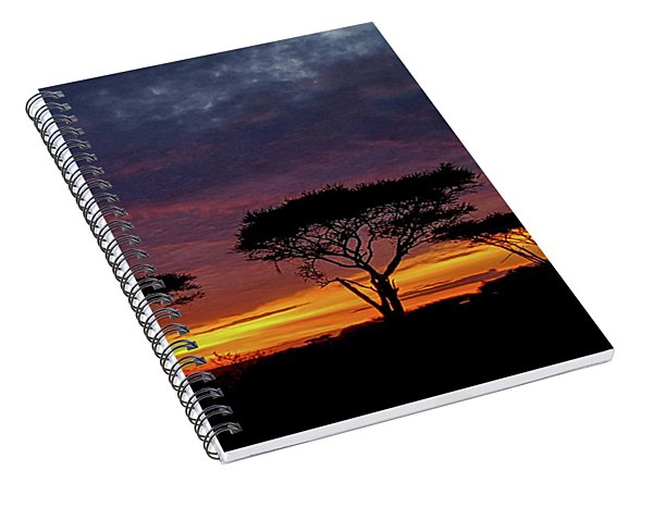 Sunrise On The Serengeti Spiral Notebook
