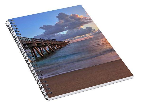 Sunrise Over Juno Beach Pier In Florida Spiral Notebook