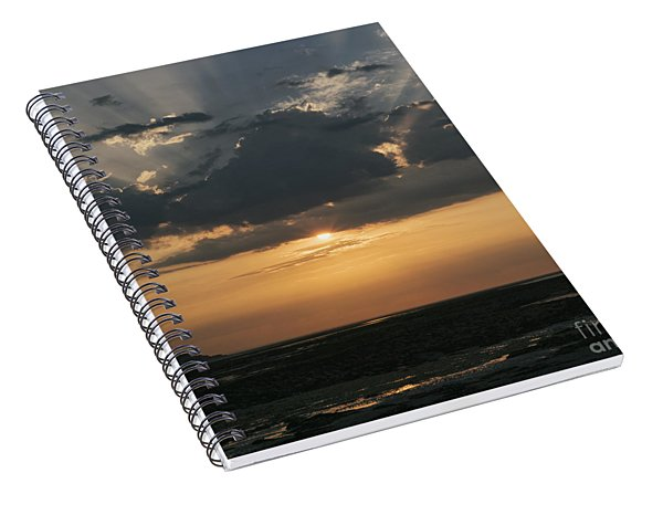 Sunrise Over The Isle Of Wight Spiral Notebook