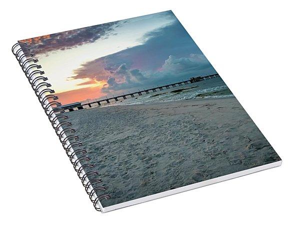 Sunrise Seascape Gulf Shores Al Pier 064a Spiral Notebook