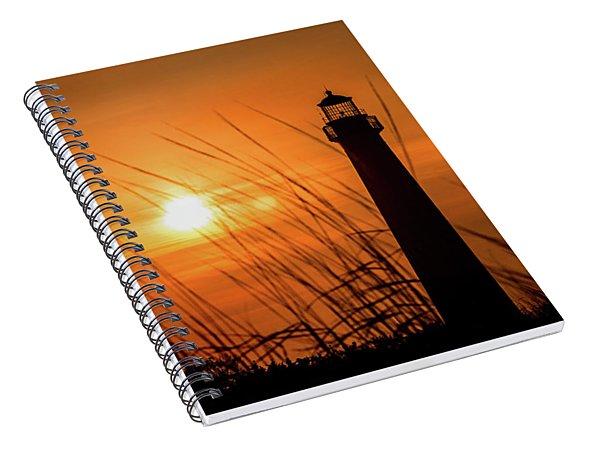 Sunset At Cm Lighthouse Spiral Notebook