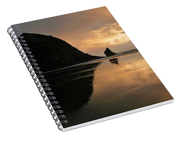 Sunset At Haystack Rock Spiral Notebook