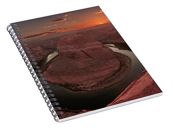 Sunset At Horseshoe Bend Spiral Notebook