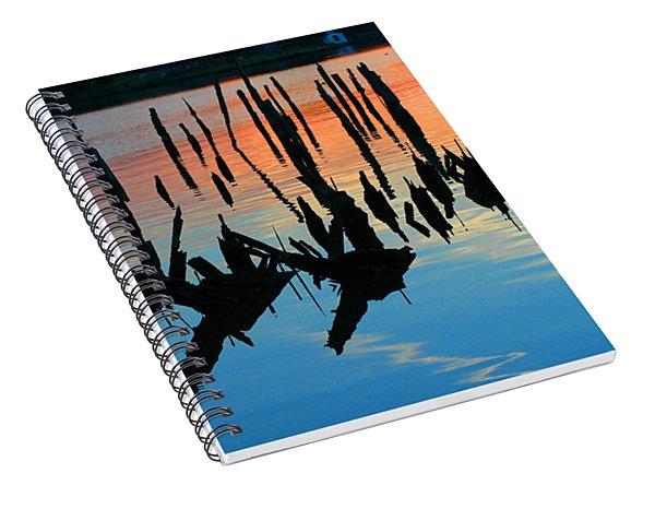 Sunset In Colonial Beach Virginia Spiral Notebook