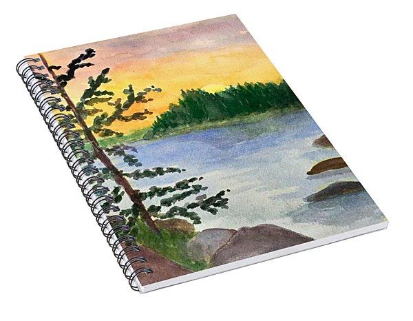 Sunset In Stonington Maine Spiral Notebook