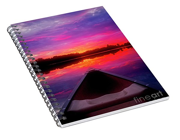 Spiral Notebook featuring the photograph Sunset Lake by Scott Kemper