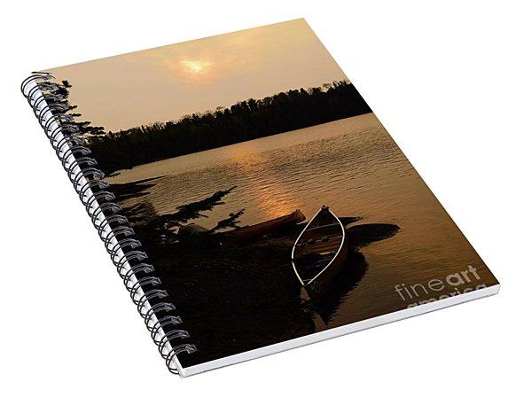 Sunset On Shell Lake Spiral Notebook