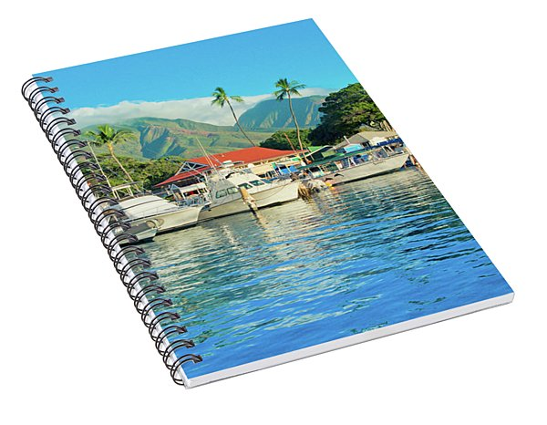 Sunset On The Marina Lahaina Harbour Maui Hawaii Spiral Notebook
