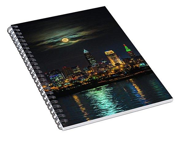 Super Full Moon Over Cleveland Spiral Notebook