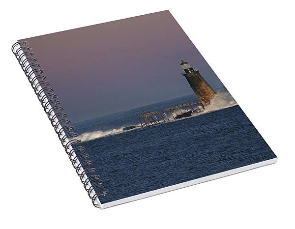 Surf At Ram Island Ledge Spiral Notebook