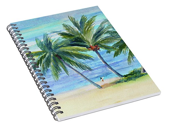 Surfer At Waikiki Spiral Notebook