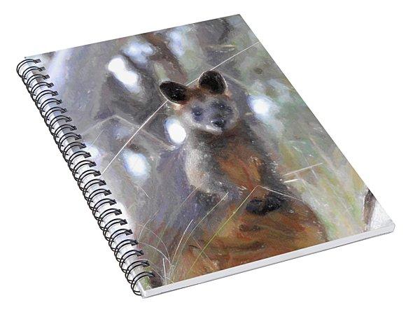 Swamp Wallaby Spiral Notebook
