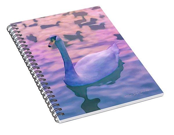 Swan At Twilight Spiral Notebook