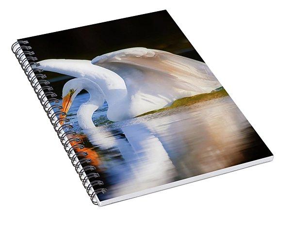 Swanlike Spiral Notebook