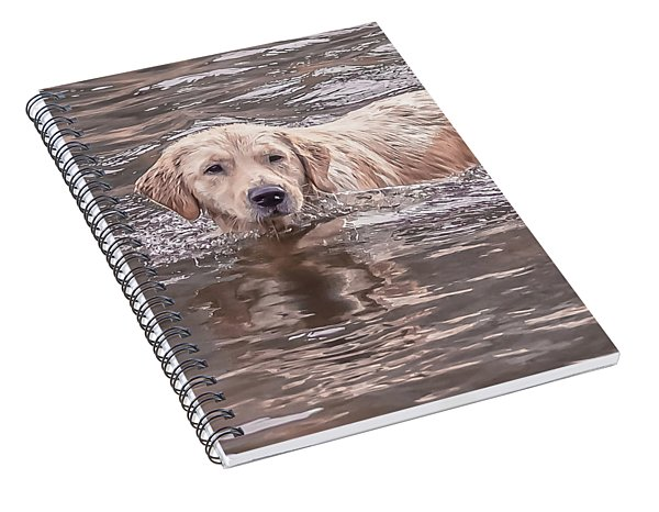 Swimming Puppy Spiral Notebook