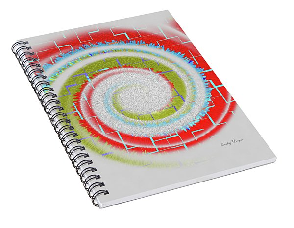 Swirl On Grey Spiral Notebook