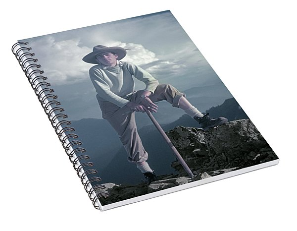 T104800 Ed Cooper On First Climb Pinnacle Peak Wa 1953 Spiral Notebook