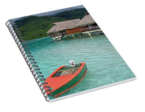 Tahitian Boat Spiral Notebook