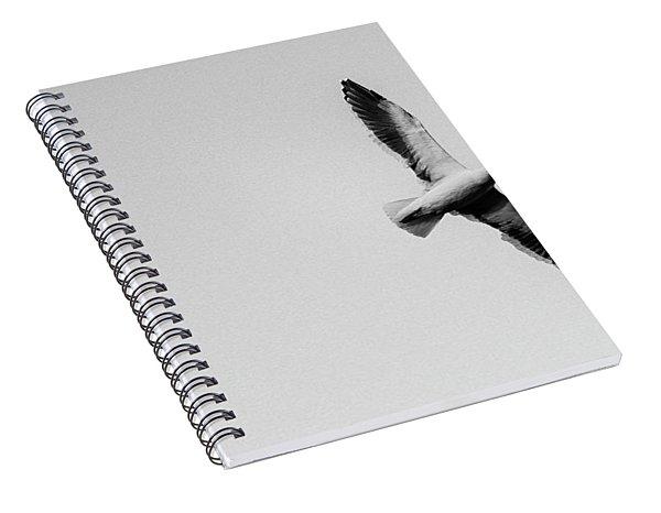 Take Flight, Black And White Spiral Notebook