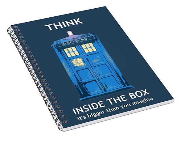 Tardis - Think Inside The Box Spiral Notebook