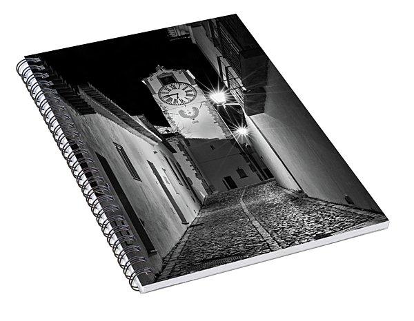 Tavira Church Bell Tower At Night - Portugal Spiral Notebook