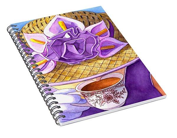 Tea Party Spiral Notebook