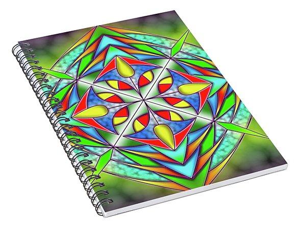Techno Fantasy Spiral Notebook