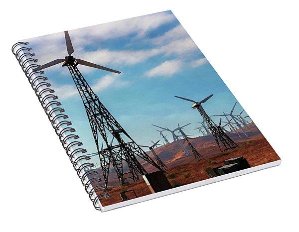 Tehachapi Windmills Spiral Notebook