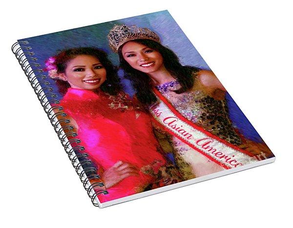 Teresa Hoang And Miss Asian America 2016 Jessica Lim Spiral Notebook