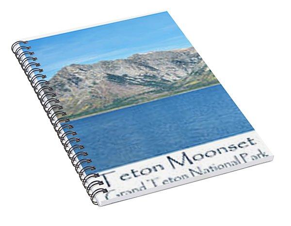 Teton Moonset Spiral Notebook