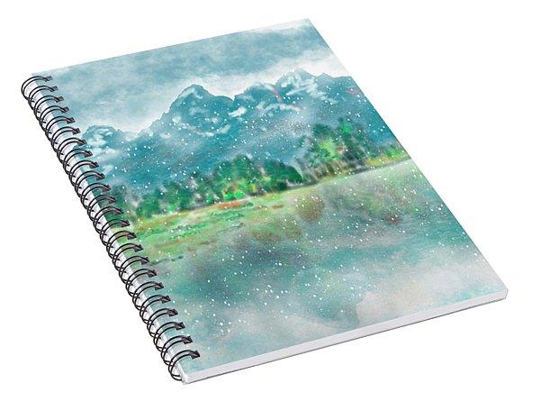 Teton Snow Reflections Spiral Notebook