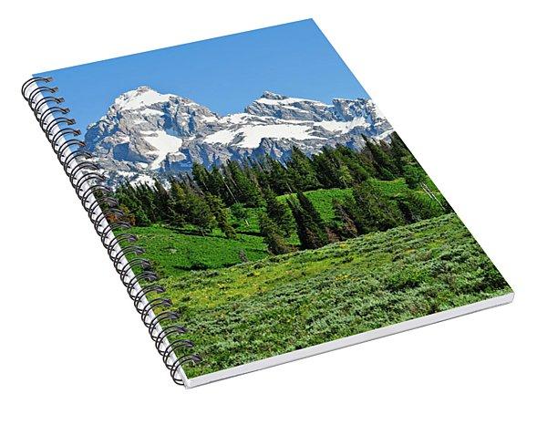 Tetons In Spring Spiral Notebook