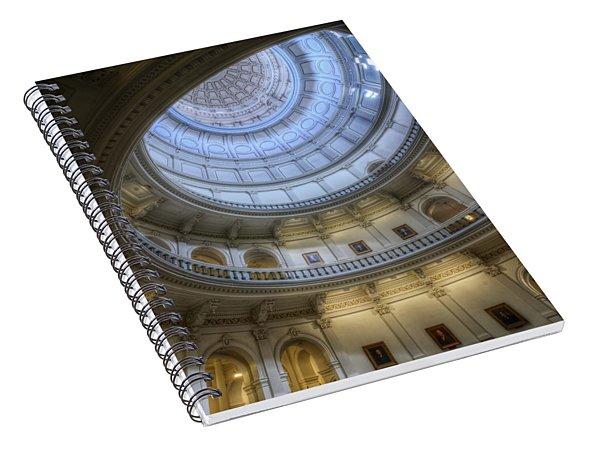 Texas Capitol Dome Interior Spiral Notebook