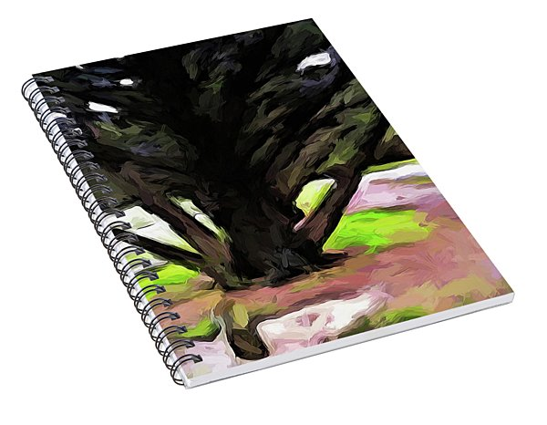 The Avenue Of Trees 1 Spiral Notebook
