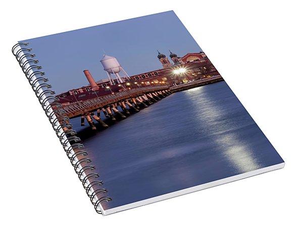 The Bridge To Ellis Island Spiral Notebook