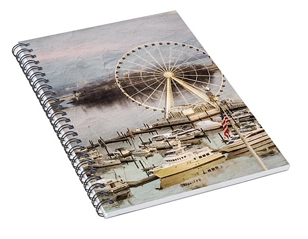 The Capital Wheel At National Harbor Spiral Notebook