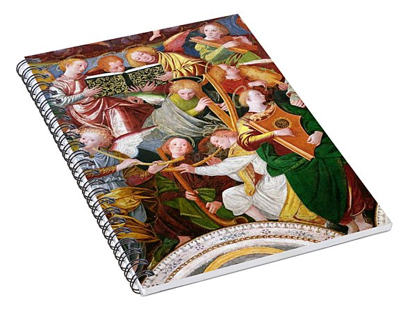 The Concert Of Angels Spiral Notebook