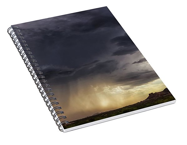 Spiral Notebook featuring the photograph The Day It Rained by Rick Furmanek