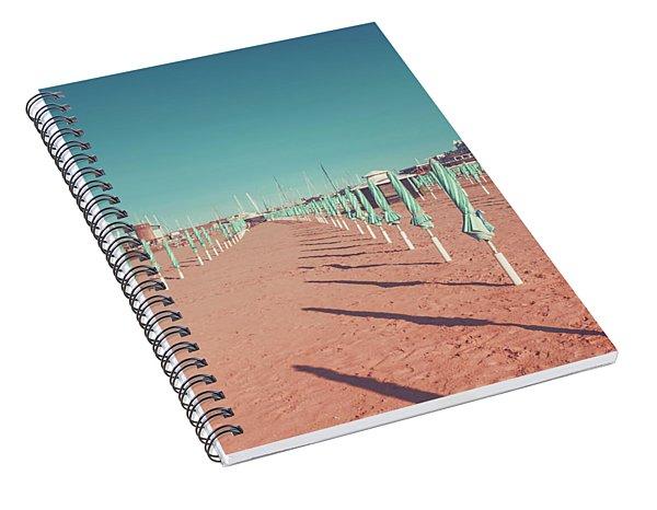 The End Of Summer Season  Spiral Notebook