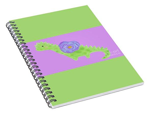 The Flower Dinosaur  Spiral Notebook